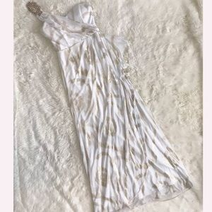 🛍Cache white maxi dress special occasion size 8